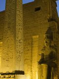 Illuminated Luxor Temple detail Stock Images