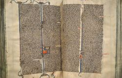 Illuminated Manuscript of the Bible Royalty Free Stock Images