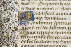 Illuminated Manuscript Detail Stock Images