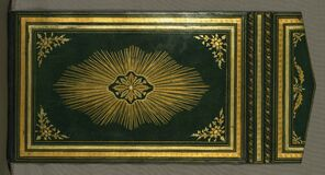 Illuminated Manuscript Koran, Binding, Walters Art Museum Ms. W.552, Lower board outside Stock Photography