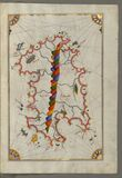 Illuminated Manuscript Map of Sardina from Book of Navigation, Walters Art Museum, Ms. W.658, fol. 226b Stock Photography