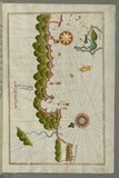 Illuminated Manuscript, Map of some unidentified islands off the southern Anatolian coast from Book on Navigation, Walters Art Mus Royalty Free Stock Image