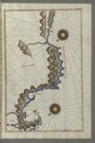 Illuminated Manuscript, Map of unidentified islands off the southern Anatolian coast from Book on Navigation, Walters Art Museum M Royalty Free Stock Photography