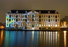 Illuminated Maritime Museum Stock Image
