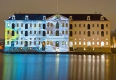 Illuminated Maritime Museum Stock Photos