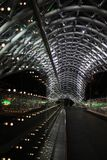 Illuminated bridge in Tbilisi. Stock Image