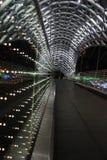 Illuminated bridge in Tbilisi. Royalty Free Stock Photos
