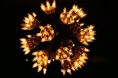 The illuminated modern lamp of danish design Royalty Free Stock Photography