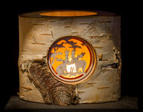 Illuminated Moose Stump Royalty Free Stock Images