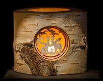 Illuminated Moose Stump Royalty Free Stock Images