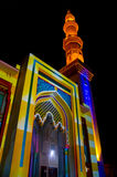 Illuminated mosque Stock Photos