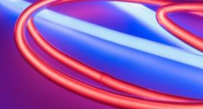 Illuminated neon lights concept Stock Photo