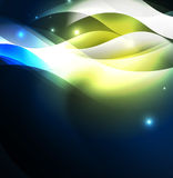 Illuminated neon waves Royalty Free Stock Photo