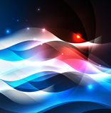 Illuminated neon waves Stock Image