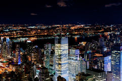 Illuminated New York Stock Images