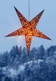Illuminated night star Royalty Free Stock Image