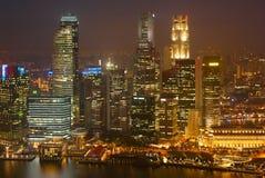 Illuminated night view of Singapore Stock Photography