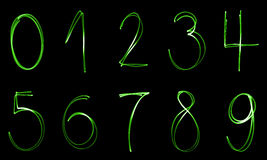 Illuminated numbers Royalty Free Stock Photo