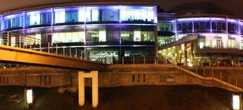 Illuminated office building Stock Photography