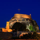 Illuminated  Old fortress, Corfu Stock Images