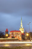 Illuminated Old Town of Tallinn, Estonia Royalty Free Stock Photos
