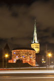 Illuminated Old Town of Tallinn, Estonia Royalty Free Stock Image