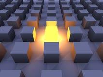 Illuminated One. 3D Illustration. The illuminated One Stock Photo