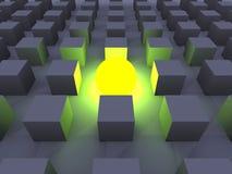 Illuminated One. 3D Illustration. The illuminated One Stock Image