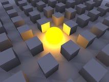 Illuminated One. 3D Illustration. The illuminated One Stock Images
