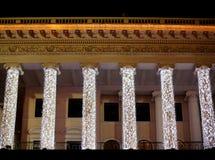 Illuminated opera house in night Kiev Stock Photos