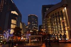Illuminated Osaka city, Umeda Osaka Japan. Royalty Free Stock Photo