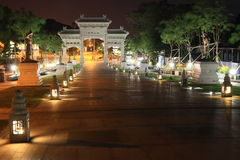 Night at temple in Lantau Royalty Free Stock Photo