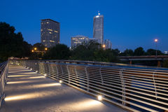 Illuminated Pedestrian Bridge Royalty Free Stock Image