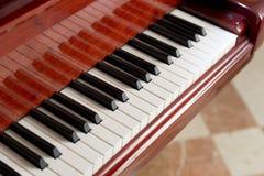 Illuminated Piano Keys Royalty Free Stock Images