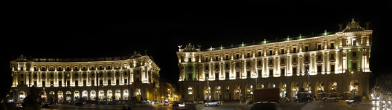 Illuminated Piazza della Repubblica Royalty Free Stock Photo