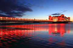 Illuminated Pier Royalty Free Stock Images