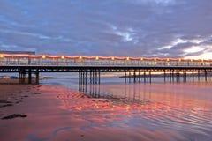 Illuminated Pier Royalty Free Stock Photography