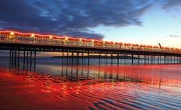 Illuminated Pier Stock Photography
