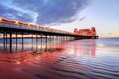 Illuminated Pier Stock Image