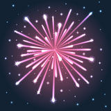 Illuminated Pink Firework. Stock Images