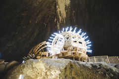 Illuminated Porch at Salt Mine Royalty Free Stock Images