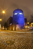Illuminated Powder Tower in Old Town Royalty Free Stock Photo