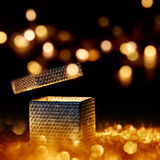Illuminated present for special moments Stock Photos