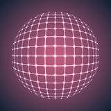 Illuminated Purple Mesh Sphere Stock Photo