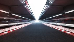 Illuminated race track with shiny lights and motion blur Stock Photography