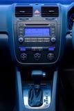 Illuminated radio and automatic shift Stock Image