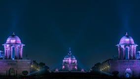 Free Illuminated Rashtrapati Bhavan In New Delhi Stock Images - 135731124