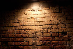 Illuminated by a red brick wall Royalty Free Stock Photos