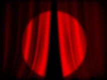 Illuminated red curtain Stock Images