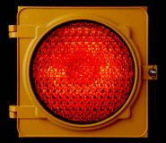 Illuminated Red traffic light Royalty Free Stock Image